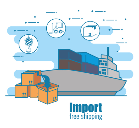 import free shipping set icons vector illustration design Stock Vector - 111976831