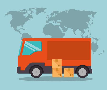 import free shipping truck vector illustration design