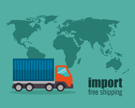 import free shipping truck vector illustration design