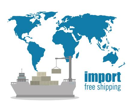 Importación envío gratis diseño de ilustraciones vectoriales marítimas
