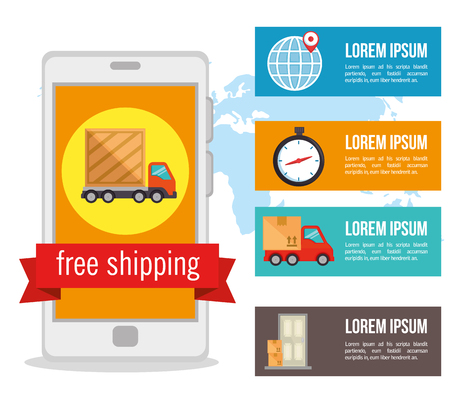 import free shipping infographic vector illustration design 일러스트