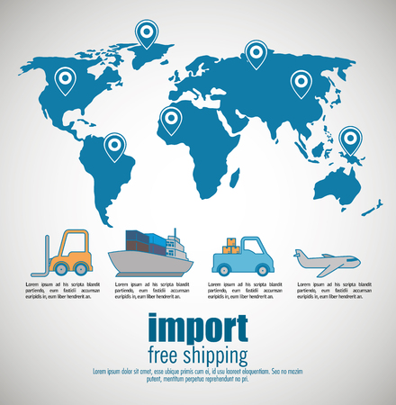 import free shipping infographic vector illustration design Illustration