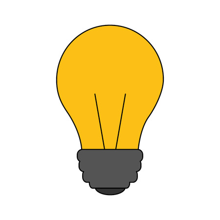 light bulb isolated icon vector illustration design Иллюстрация