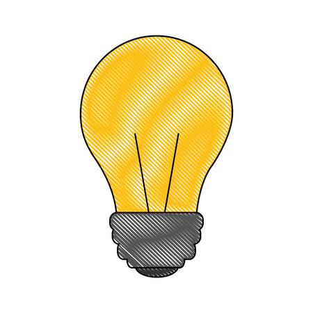 bulb light electricity lamp innovation icon vector illustration color drawing 向量圖像