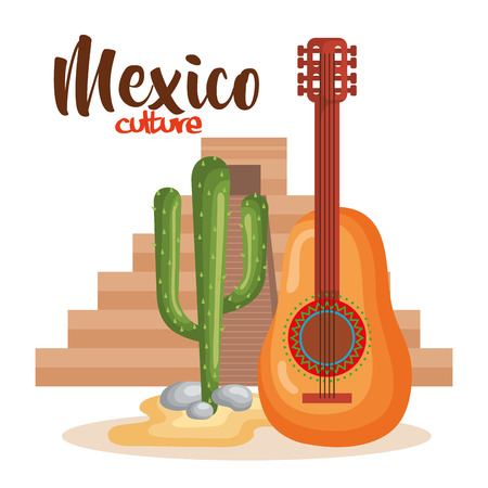 mexican culture set icons vector illustration design  イラスト・ベクター素材