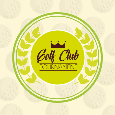 golf club tournament sport competition emblem vector illustration vector illustration 向量圖像