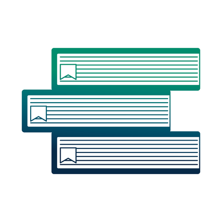 pile library books isolated icon vector illustration design