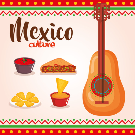 delicious mexican food icons vector illustration design Illustration