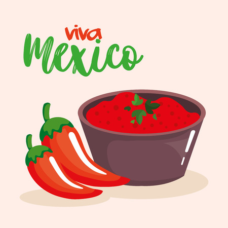mexican chili pepper sauce vector illustration design