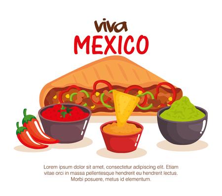 delicious mexican quesadillas icon vector illustration design