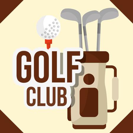 golf clubs in bag ball equipment vector illustration vector illustration