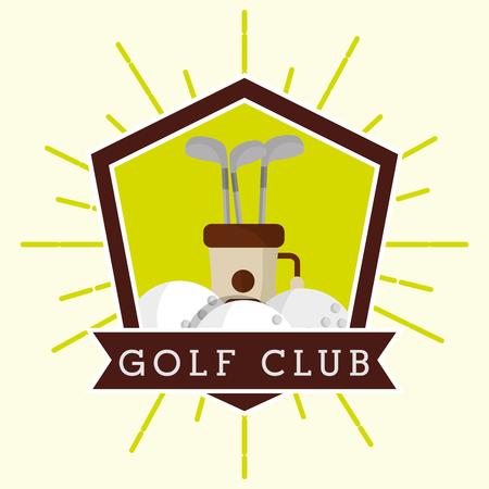 golf club bag and balls label grunge style vector illustration vector illustration