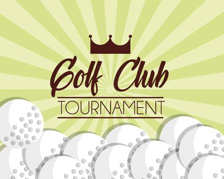 golf club balls sport game poster vector illustration vector illustration