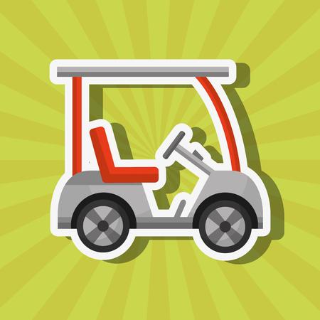 sport golf car transport equipment vector illustration vector illustration Stock Vector - 111977339