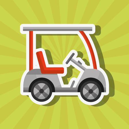 sport golf car transport equipment vector illustration vector illustration