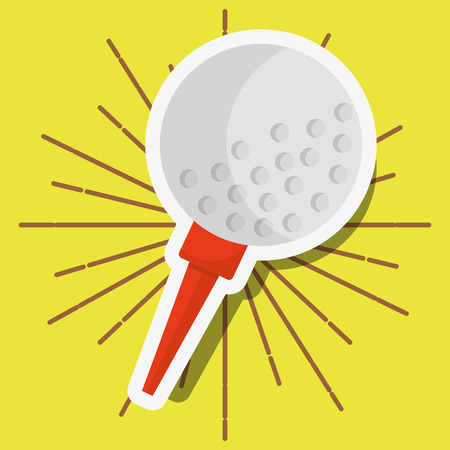 golf ball on tee sport vector illustration vector illustration