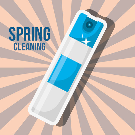 freshener spray bottle spring cleaning vector illustration