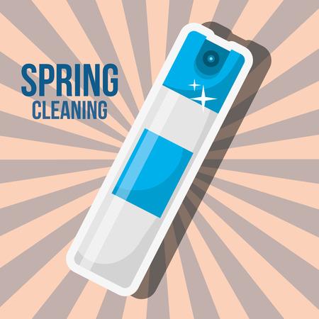 freshener spray bottle spring cleaning vector illustration