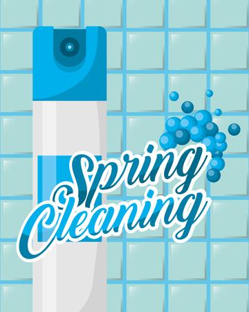 illustration vectorielle de produit de désodorisant bleu nettoyage de printemps