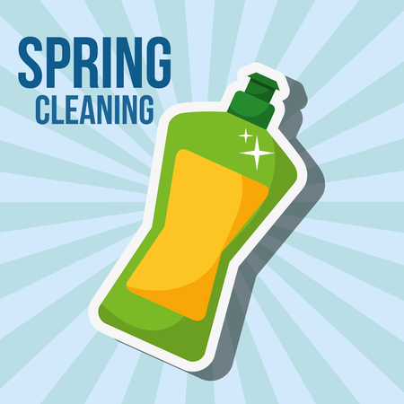 liquid laundry detergent spring cleaning vector illustration