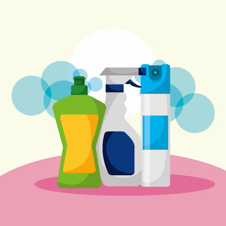 liquid laundry detergent spray cleaning vector illustration  イラスト・ベクター素材
