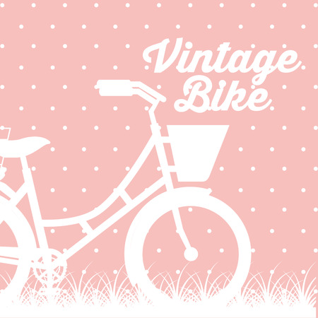bike repair and shop dotted pink background bicycle sign vector illustration