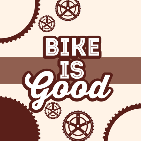bike repair and shop wheels background sign vector illustration Illustration
