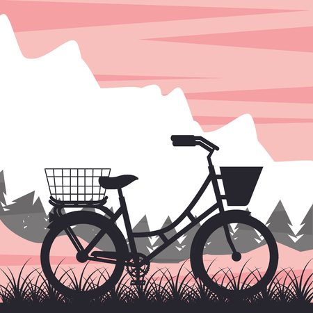 bike repair and shop mountain ride bicycle grunge style background vector illustration