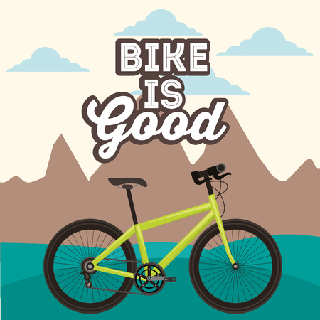bike repair and shop bicycle is good mountain ride vector illustration Illustration