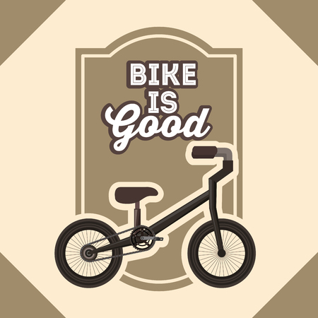 bike repair and shop bicycle frame sign vector illustration Stock Illustratie