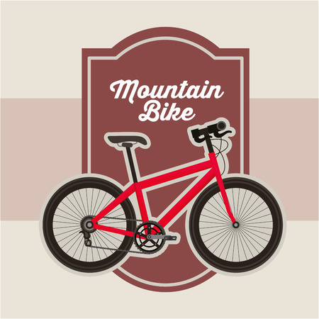 bike repair and shop frame sign red bicycle vector illustration Illustration