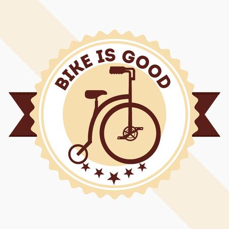 bike repair and shop ribbon label sign bicycle vector illustration Stock Vector - 111977501