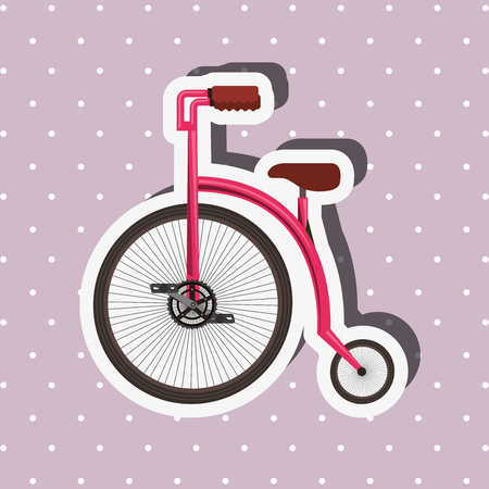 bike repair and shop dotted background purple bicycle vector illustration Ilustração
