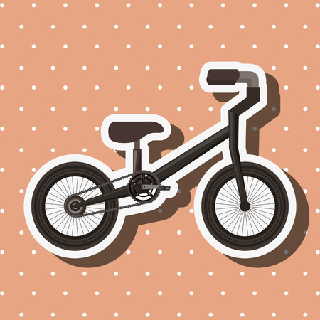 bike repair and shop bicycle ride dotted background vector illustration Stock Photo