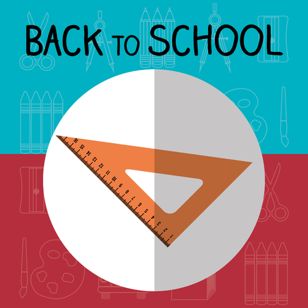 back to school label with rules vector illustration design Stock Illustratie