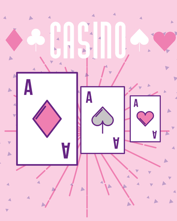 casino poker aces card gambling vector illustration 向量圖像