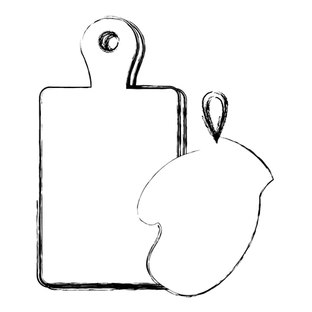 glove kitchen with board wooden vector illustration design