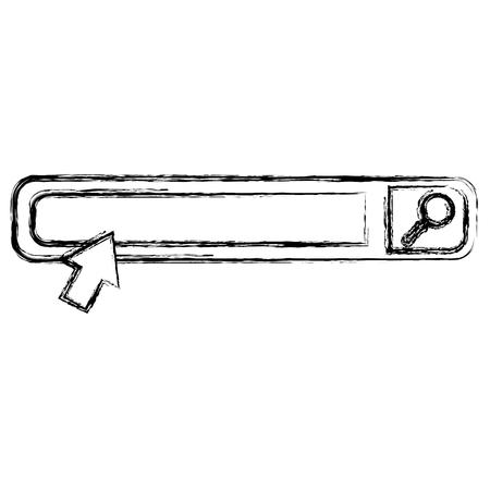 barre de recherche interface navigateur conception d'illustration vectorielle