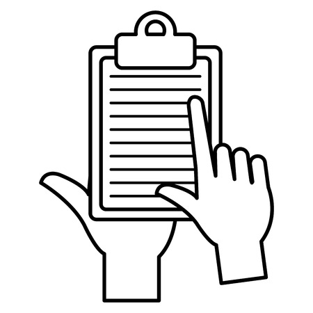 hand with checklist clipboard vector illustration design Vecteurs