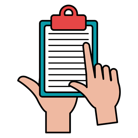 hand with checklist clipboard vector illustration design Banque d'images - 111986605