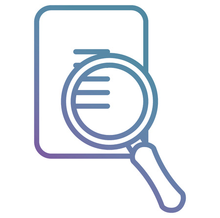 documents with magnifying glass vector illustration design Çizim