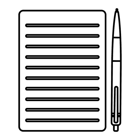 pencil write with documents vector illustration design Illustration