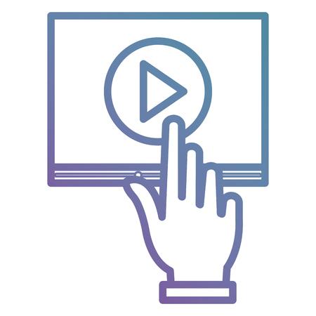 mano indicizzazione media player interfaccia illustrazione vettoriale design