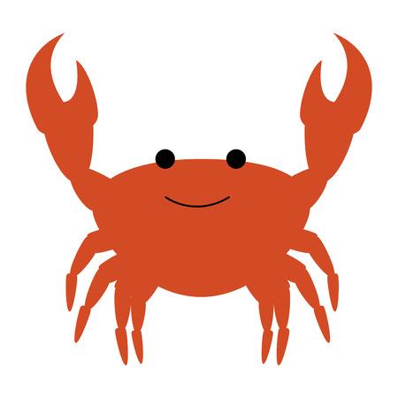 Krab zee geïsoleerd pictogram vector illustratie ontwerp Vector Illustratie