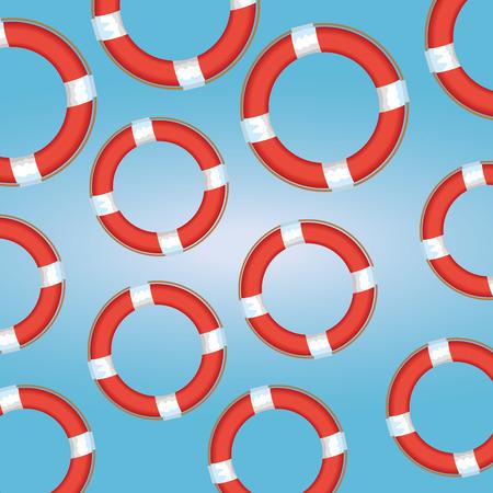 float lifeguard pattern background vector illustration design