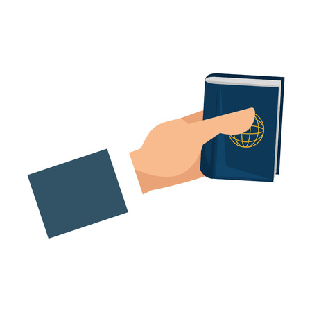 hand with passport document vector illustration design Stock fotó - 106477374