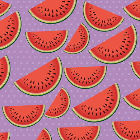 watermelon sliced fruit pattern background vector illustration design