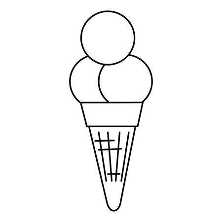 ice cream cone isolated icon vector illustration design