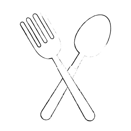 fork and spoon cutlery vector illustration design 写真素材 - 111986920