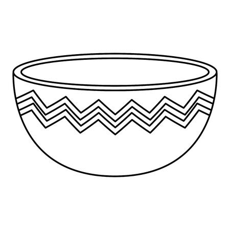 kitchen bowl empty icon vector illustration design